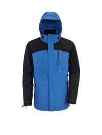 Maier Sports 3in1-Funktionsjacke in Blau/ Schwarz