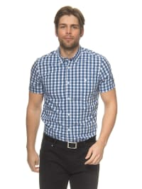 Tom Tailor Hemd in Dunkelblau/ Weiß