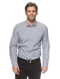 Tom Tailor Hemd in Grau/ Weiß