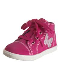Richter Shoes Leder-Sneakers in Fuchsia/ Silber