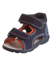 Richter Shoes Leder-Sandalen in Dunkelblau/ Orange