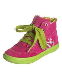 Richter Shoes Leder-Sneakers in Pink/ Grün