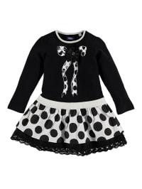 UBS.2 Kleid in Schwarz/ Weiß