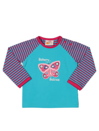 Dutch Bakery Longsleeve in Hellblau/ Pink