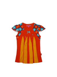 Dutch Bakery Top in Rot/ Orange/ Hellblau