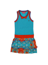 Dutch Bakery Kleid in Hellblau/ Rot/ Orange