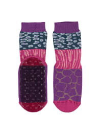 """Ewers Anti-Rutsch-Socken """"Stoppi"""" in Lila/ Pink"""