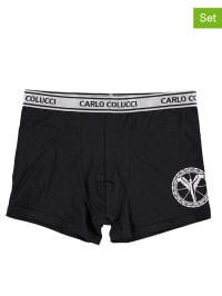 Carlo Colucci 2er-Set: Boxershorts in Schwarz