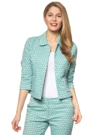 More & More Blazer in Mint/ Weiß