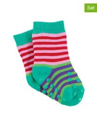 Sterntaler 2er-Set: Stopper-Socken in Grün/ Rosa