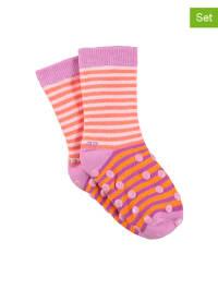 Sterntaler 2er-Set: Stopper-Socken in Rosa/ Orange