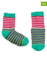 Sterntaler 2er-Set: Stopper-Socken in Rosa/ Grün