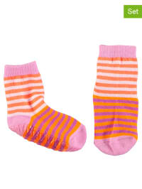 Sterntaler 2er-Set: Stopper-Socken in Rosa/ Orange