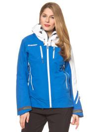 "Ziener Ski-/ Snowboardjacke ""Scaven"" in Blau/ Weiß"