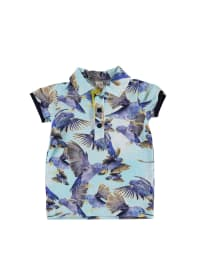 Wild Poloshirt in Türkis/ Blau