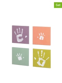 Baby Art 9tlg. Abdruck-Set mit Leinwänden in Bunt