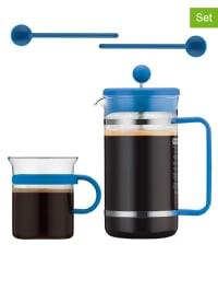 """Bodum 5tlg. Kaffeebereiter-Set """"Bistro"""" in Blau - 1 l"""
