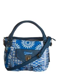 """Desigual Shopper """"McBee Jacquard Blue"""" in Blau/ Weiß - (B)45 x (H)28 x (T)13 cm"""