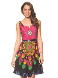 "Desigual Kleid ""Sanzibar Rep"" in Pink/ Dunkelblau/ Bunt"