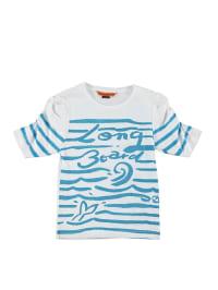 Longboard Shirt in Weiß/ Blau