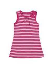 Topo Kleid in Pink/ Weiß
