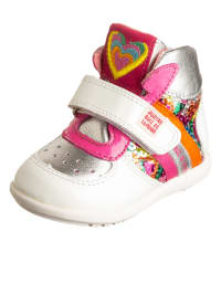 Agatha Ruiz de la Prada Leder-Sneakers in Weiß/ Silber