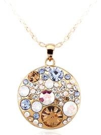 PARK AVENUE NY Vergold. Halskette mit Anhänger - (L)46 cm