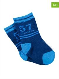 Bonnie Doon 3er-Set: Socken in Dunkelblau/ Blau