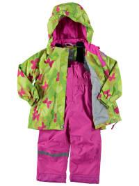 """Icepeak 2tlg. Regenschutz-Outfit """"Sunn Kd"""" in Limette/ Pink"""