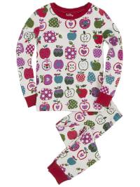 "Hatley Pyjama ""Orchard Apples"" in Weiß/ Rot/ Lila"