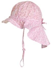 Döll Nackenschutzmütze in Pink/ Weiß