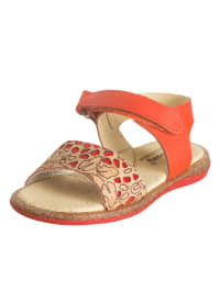 Billowy Leder-Sandalen in Rot