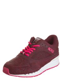 """Kangaroos Leder-Sneakers """"Rage Animal"""" in Bordeaux/ Pink"""