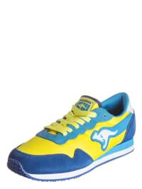 """Kangaroos Sneakers """"Invader"""" in Gelb/ Hellblau/ Blau"""