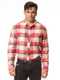 "Billabong Hemd ""Dawson"" in Beige/ Rot"