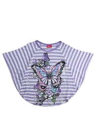 "Pacino Shirt ""Butterfly"" in Lila/ Weiß"