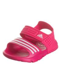 Adidas Badesandalen in Pink/ Weiß
