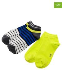 Ewers 4er-Set: Socken in Gelb/ Blau