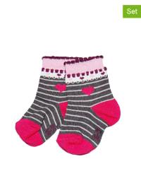 Ewers 3er-Set: Socken in Anthrazit/ Pink