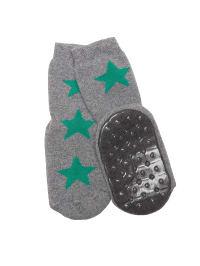 Ewers Anti-Rutsch-Socken in Grau/ Grün