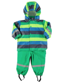 Green Cotton 2tlg. Regen-Outfit in Grün/ Blau/ Dunkelblau