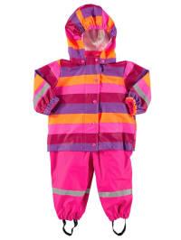 Green Cotton Regen-Outfit in Pink/ Lila/ Orange