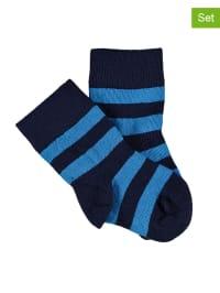 Green Cotton 3er-Set: Socken in Dunkelblau/ Blau