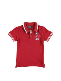 "Murphy&Nye Poloshirt ""Stars & Stripes"" in Rot/ Creme"
