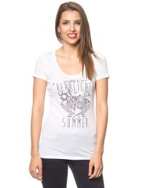 """Herrlicher Shirt """"Kandeen"""" in Weiß"""