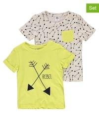"Mama licious 2er-Set: Shirts ""Noah"" in Limette/ Creme"