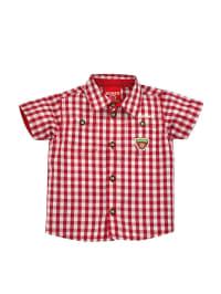 """Bondi Hemd """"Gipfelstürmer"""" in Rot/ Weiß"""