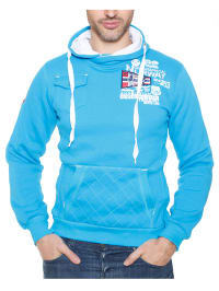 "Geographical Norway Kapuzenpullover ""Fantome"" in Türkis"