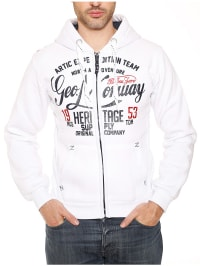 """Geographical Norway Sweatjacke """"Gravity"""" in Weiß"""