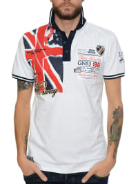 "Geographical Norway Poloshirt ""Kilt"" in Weiß"